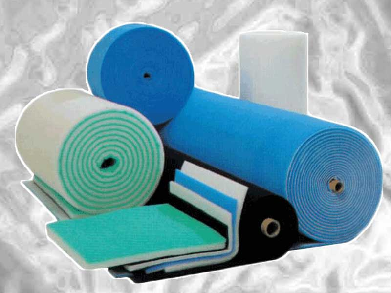 Glass or Synthetic Media in roll or pad form for HVAC systems or spray booths.
